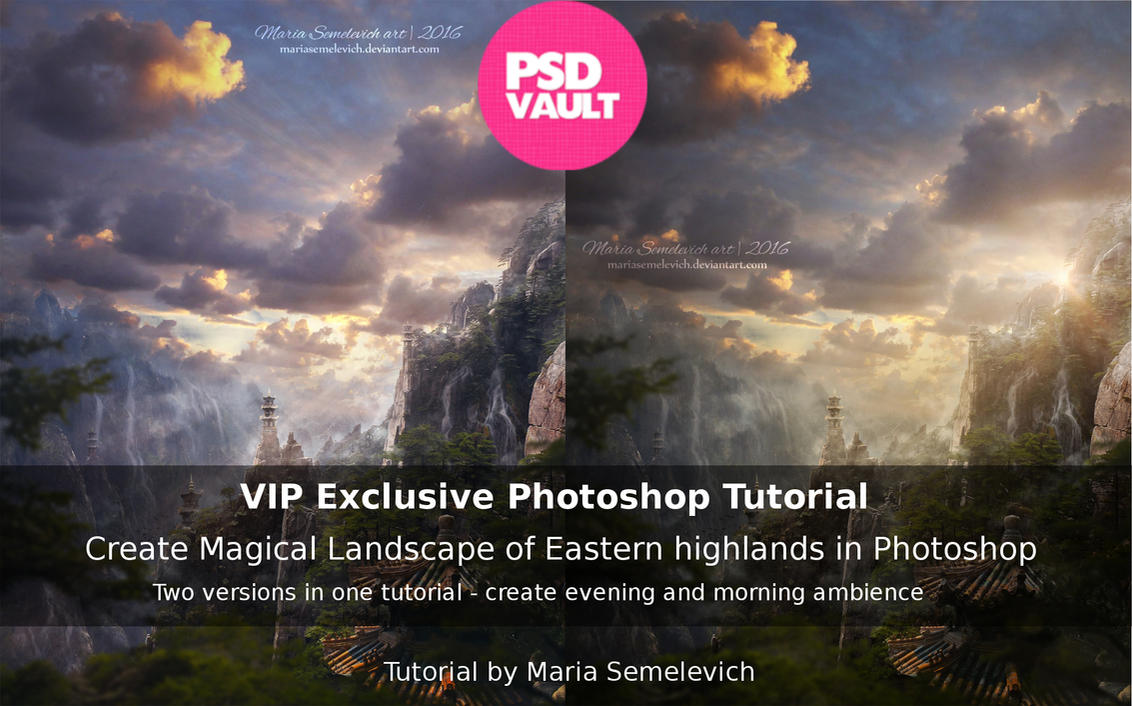 Create Magical Eastern Landscape in Photoshop by MariaSemelevich