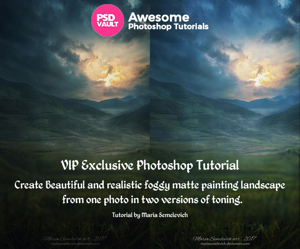 Create Landscape Matte Painting from one photo by MariaSemelevich