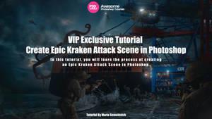 Create Epic Kraken Attack Scene in Photoshop