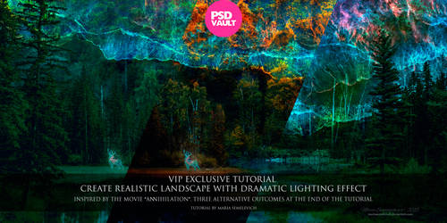 Create Realistic Landscape with Dramatic Lighting by MariaSemelevich