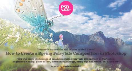 Create a Spring Fairytale Composition in Photoshop by MariaSemelevich