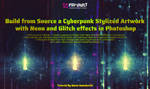 Create Cyberpunk Poster with Neon and Glitch by MariaSemelevich