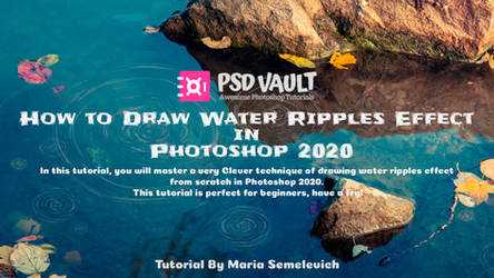 How to Draw Water Ripples Effect in Photoshop 2020 by MariaSemelevich