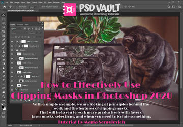 How to Effectively Use Clipping Masks in Photoshop by MariaSemelevich