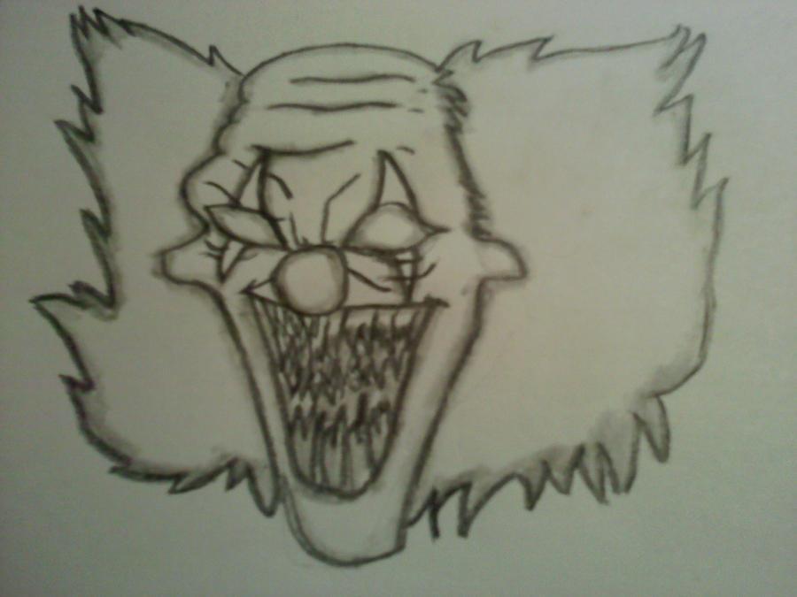 Scary Clown Drawing: Scary Clown Drawing By Hardcorejake On DeviantArt