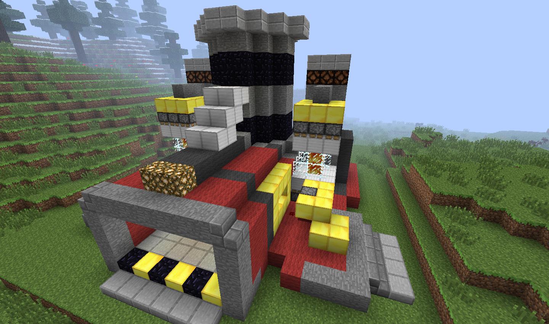 Minecraft Terran Refinery by Wolfgerlion