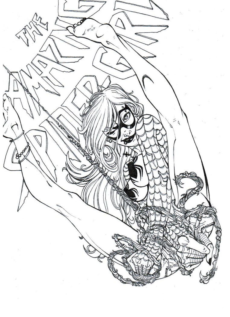 spider girl coloring pages - photo#34