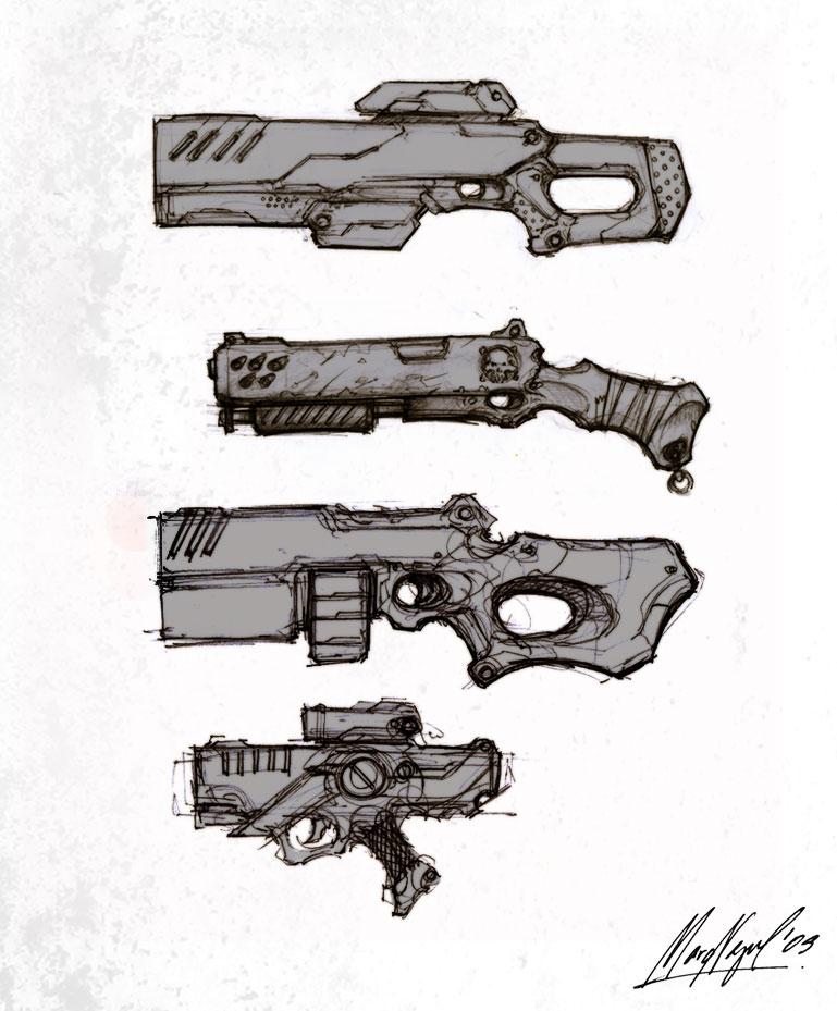 gun_doodlez by marcnail