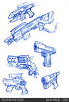 weapon_sketches by marcnail