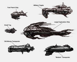 Eve Online Ship Doodles by marcnail