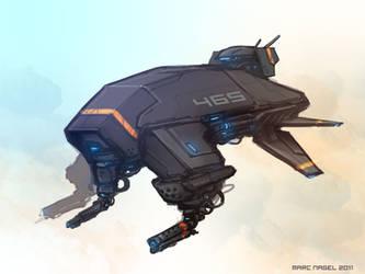 Auto Gunship Drone by marcnail