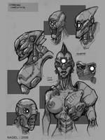Strogg Studies by marcnail