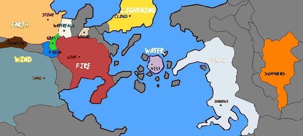 Naruto Village Symbols Map World - 0425