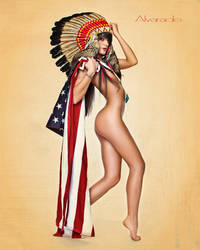 Headress and Flag by hihosteverino