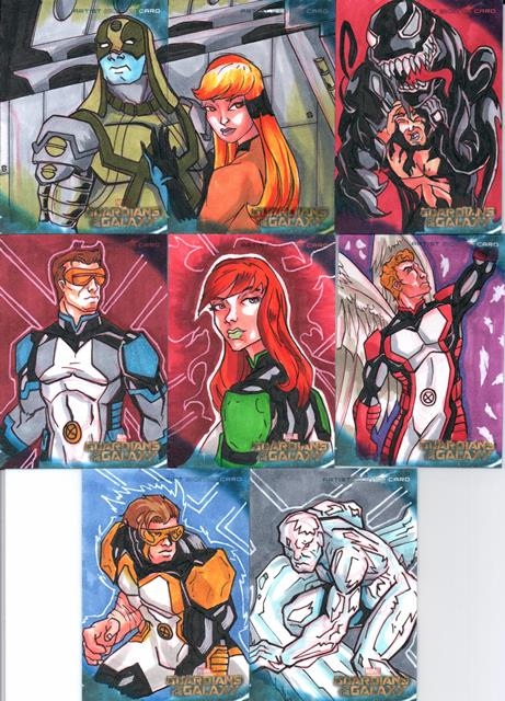 Guardians of the Galaxy regular cards set 2 by Grymjack