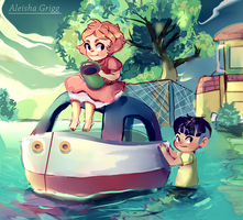 Ponyo cliff by the sea-WIP