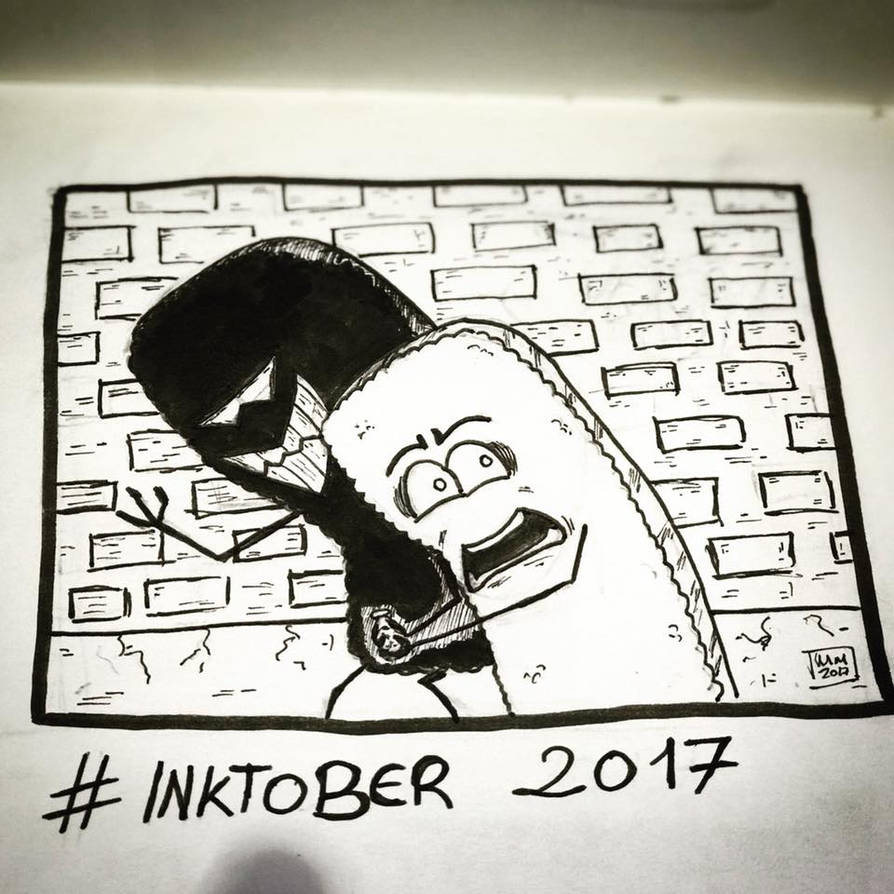 Inktober 2017, Day 2, Divided by maestromakhan