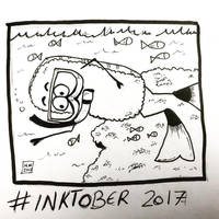 Inktober 2017, Day 4, Underwater by maestromakhan