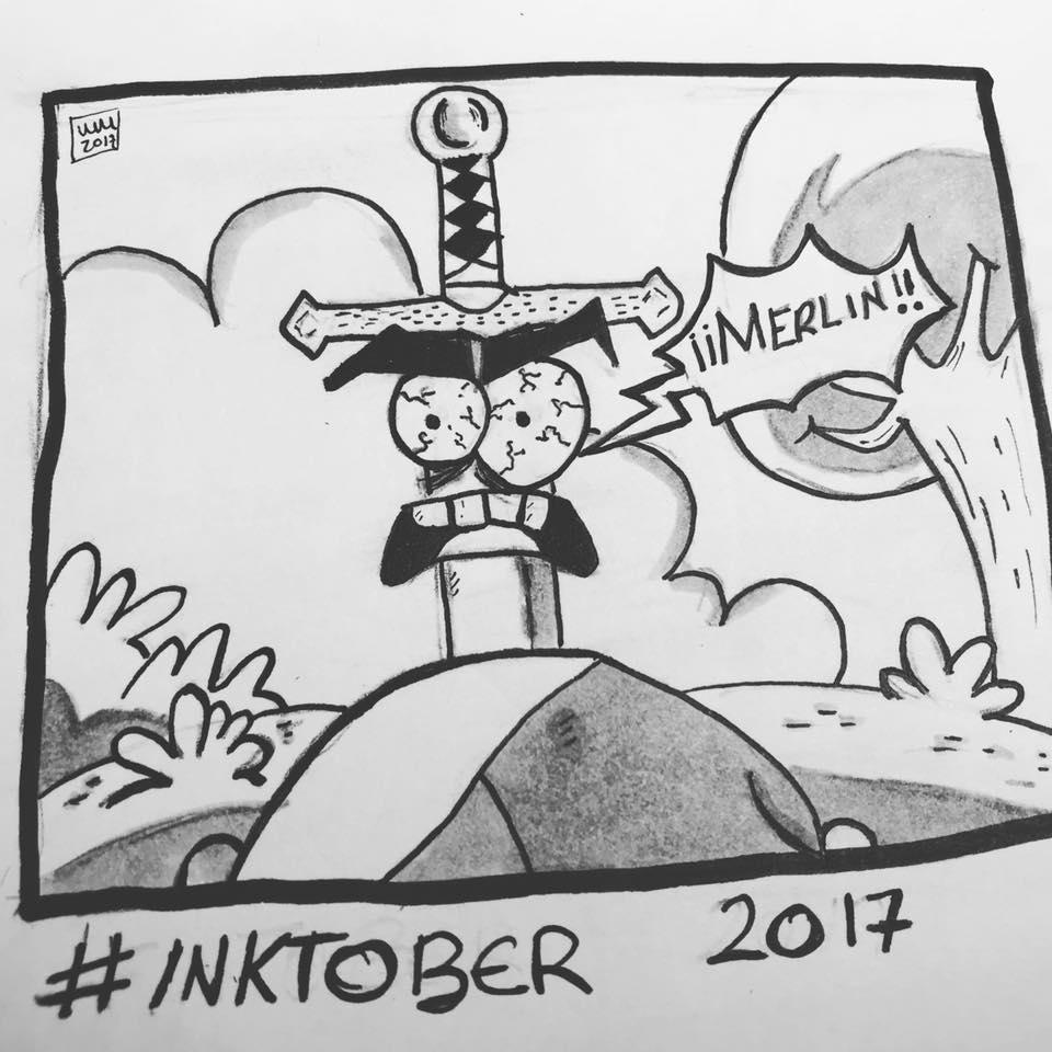 Inktober 2017, Day 6, Sword by maestromakhan