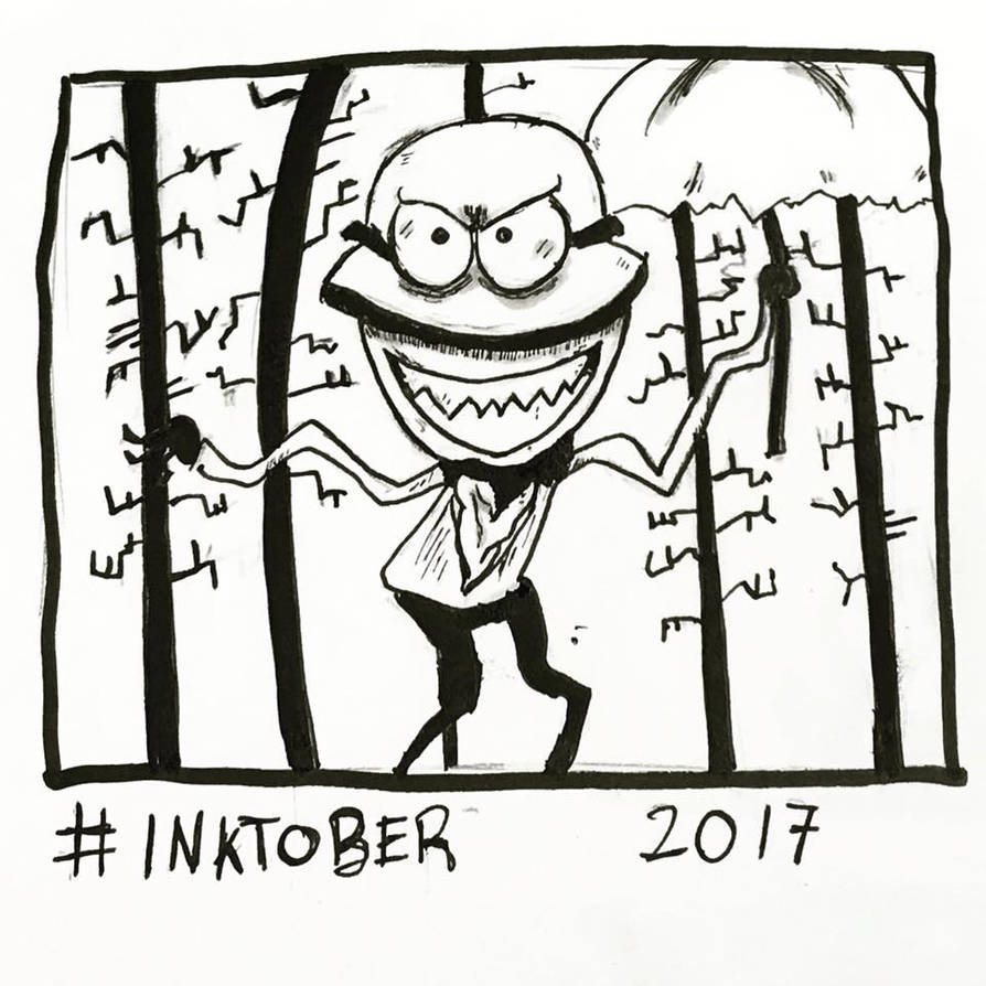Inktober 2017, Day 8, Crooked by maestromakhan