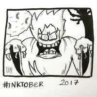 Inktober 2017, Day 9, Screech by maestromakhan