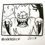 Inktober 2017, Day 9, Screech by maestromakhan