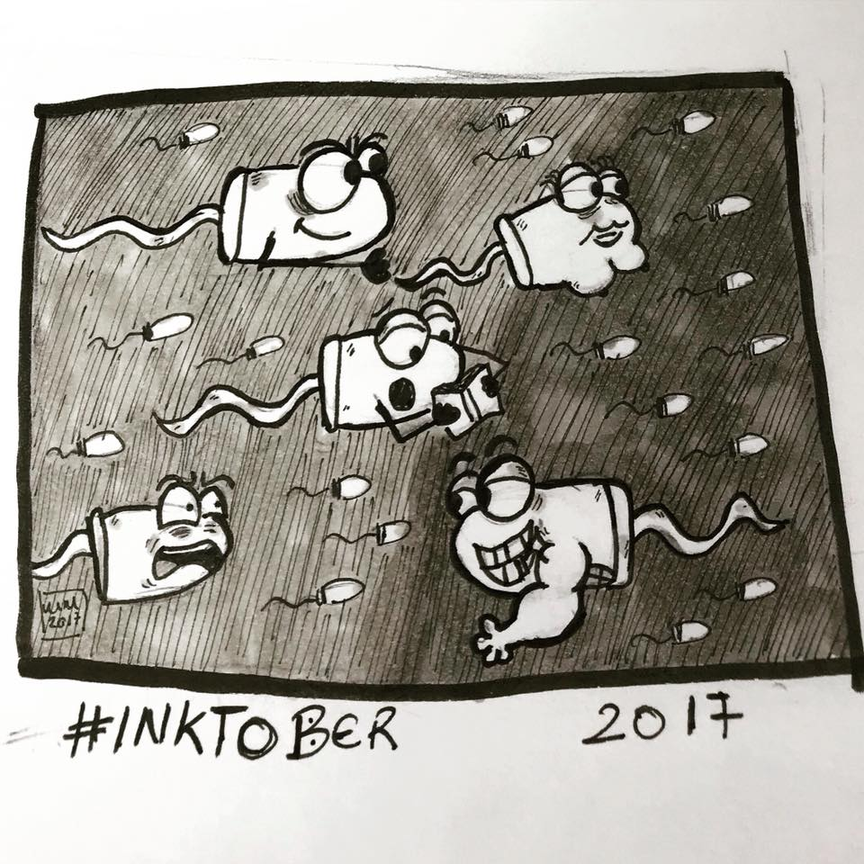 Inktober 2017, Day 13, Teeming by maestromakhan