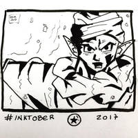 Inktober 2017, Day 21, Furious by maestromakhan