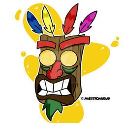 Aku Aku Mask Sticker