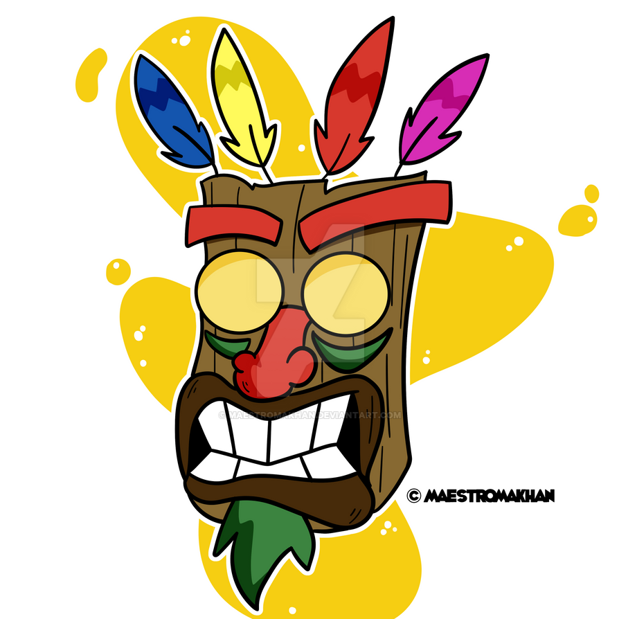 Aku Aku Mask Sticker by maestromakhan