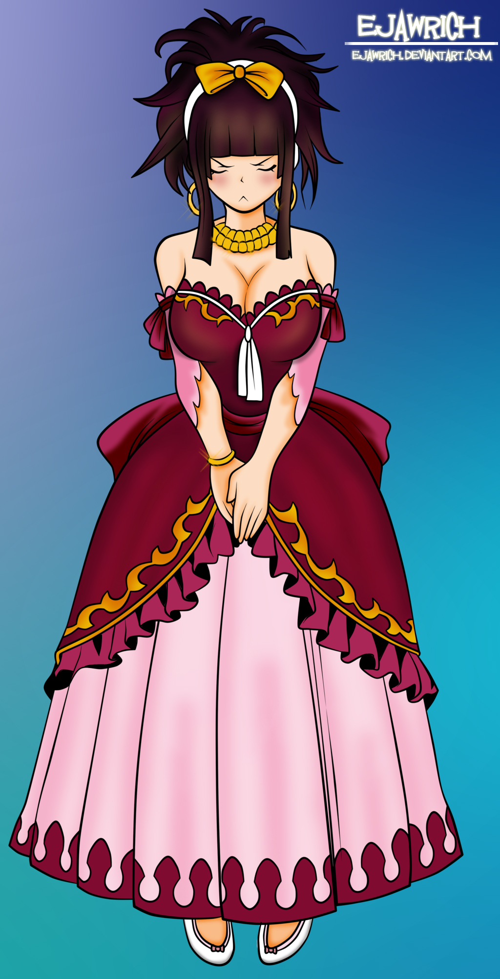 Fairy Tail 338 Kagura On Dress By Ejawrich On DeviantArt