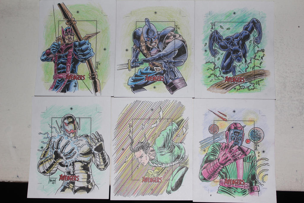 silver age avengers skecth cards 3 by mannieboy