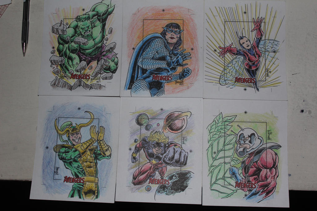silver age avengers skecth cards 4 by mannieboy