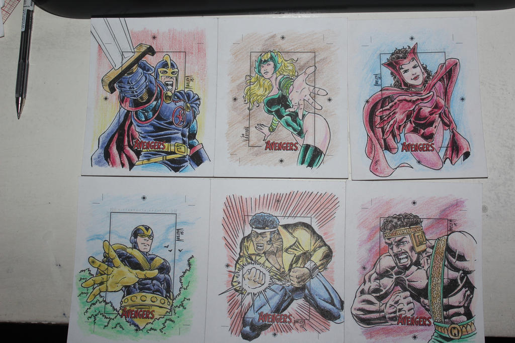 silver age avengers skecth cards 5 by mannieboy