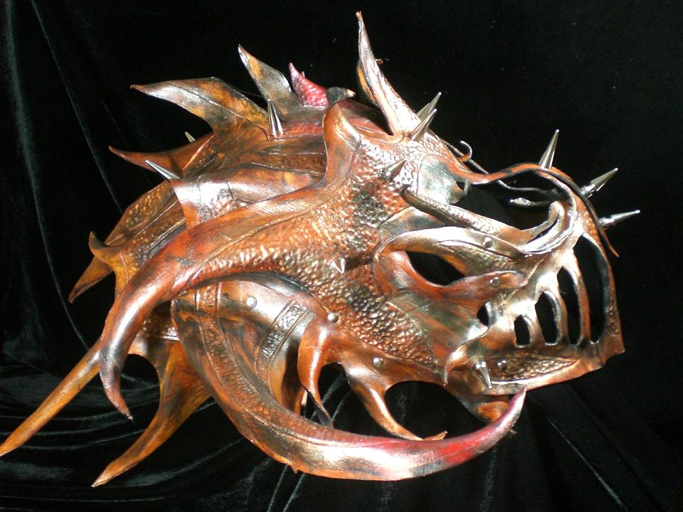 Leather Dragon Armor Mask 3 by Skinz-N-Hydez