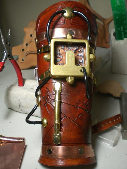 Steampunk Cuff Near Completion by Skinz-N-Hydez