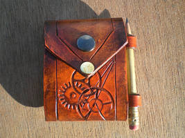 Note pad for Steampunk Cuff by Skinz-N-Hydez
