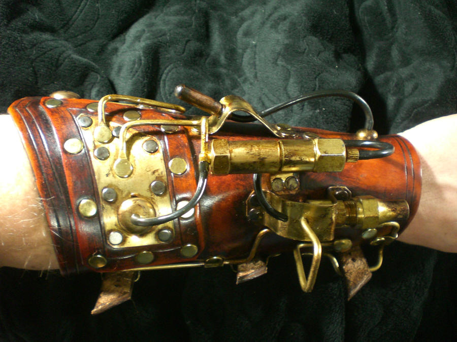 Steampunk Warrior arm cannon1 by Skinz-N-Hydez