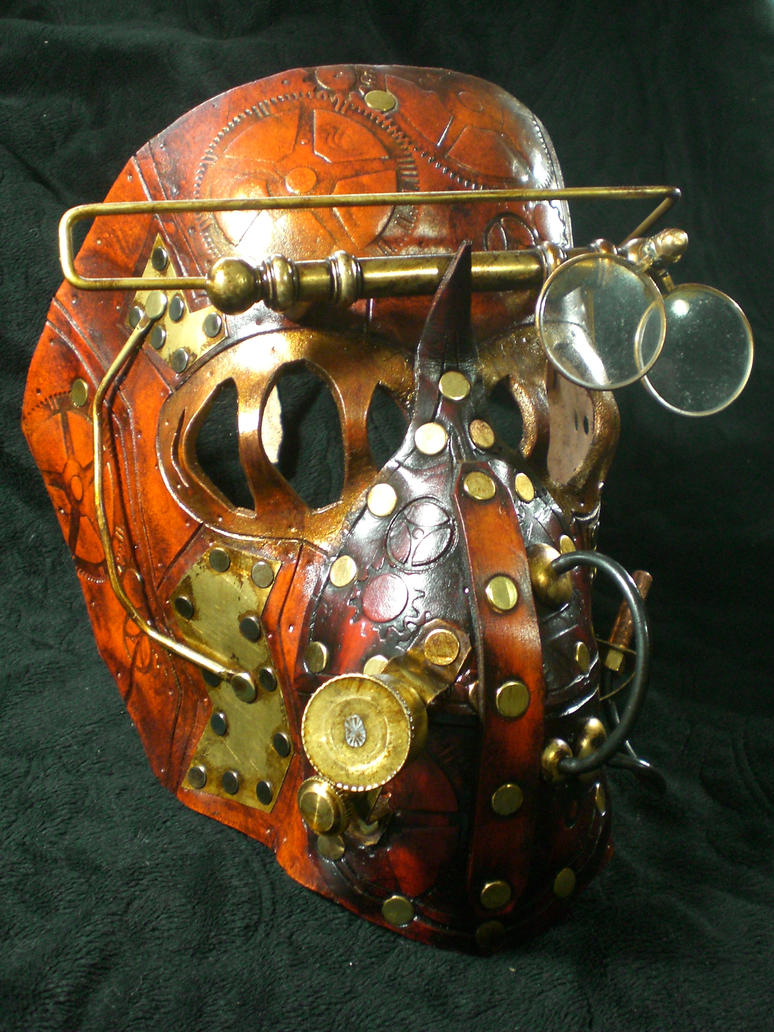 Steampunk Mechanical mask by Skinz-N-Hydez