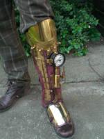 Steampunk Half Leg - Iron Man? by Skinz-N-Hydez