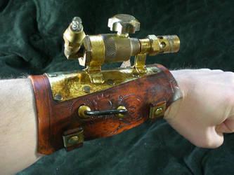 Steampunk Ballistic Bracer by Skinz-N-Hydez