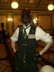 Insectoid steampunk gas mask