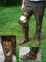Steampunk 3 Quarter Leg by Skinz-N-Hydez