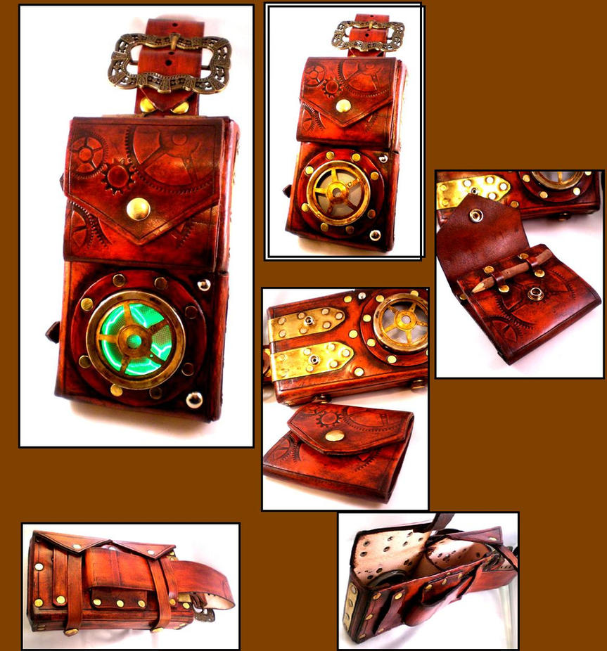 Steampunk Journalists Pouch by Skinz-N-Hydez