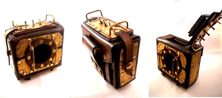 Custom Steampunk Plasma Pouch by Skinz-N-Hydez
