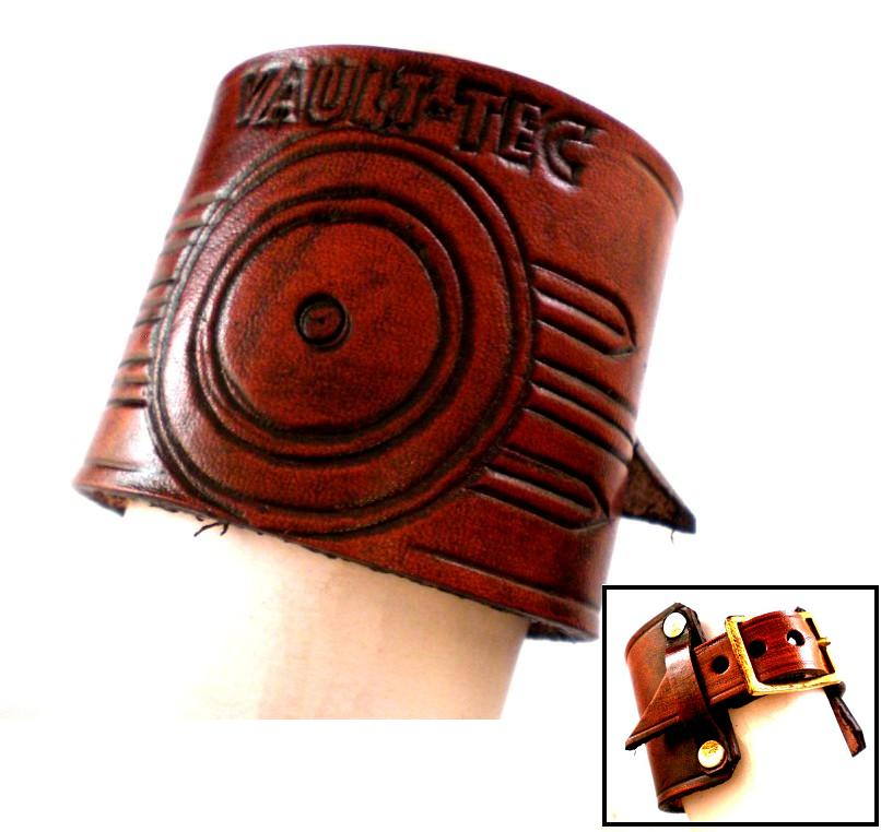 Vault Tec Leather Cuff by Skinz-N-Hydez