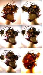 Custom Goggle helmet by Skinz-N-Hydez