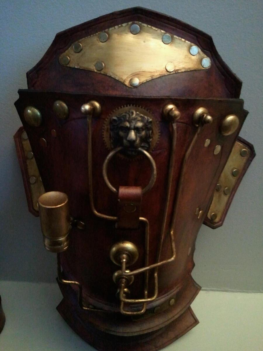 Steampunk Pauldron for Arm by Skinz-N-Hydez