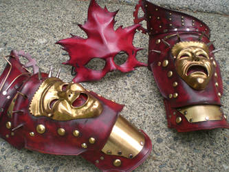 Steampunk Pauldrons and Mask by Skinz-N-Hydez