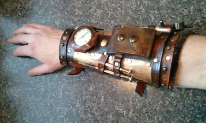 steampunk mechanic bracer armor